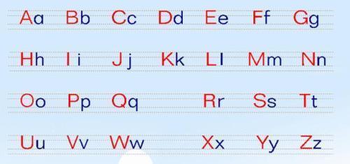 英语26个字母大小写