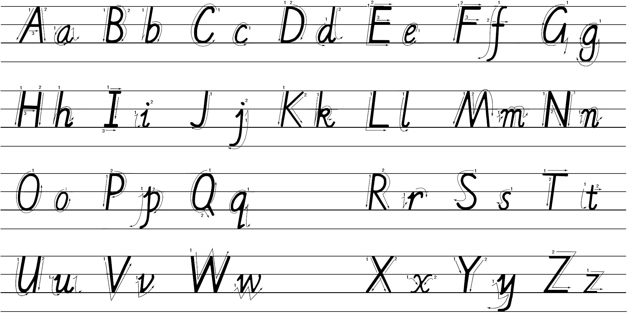 26个英文字母